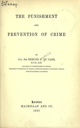 Download The punishment and prevention of crime.