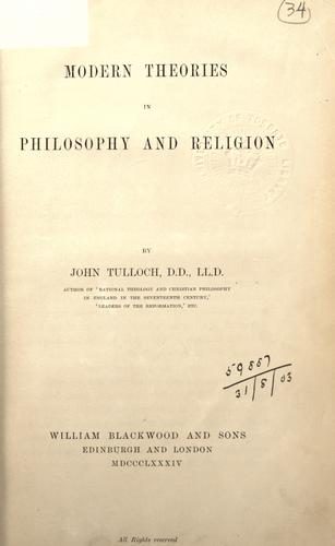 Modern theories in philosophy and religion.