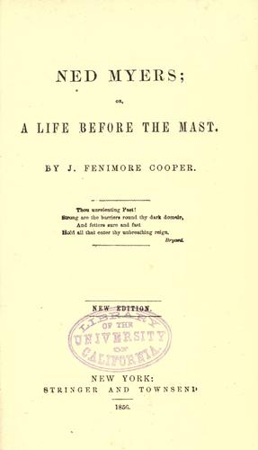 Download Ned Myers, or, A life before the mast