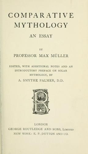 Comparative mythology by F. Max Müller