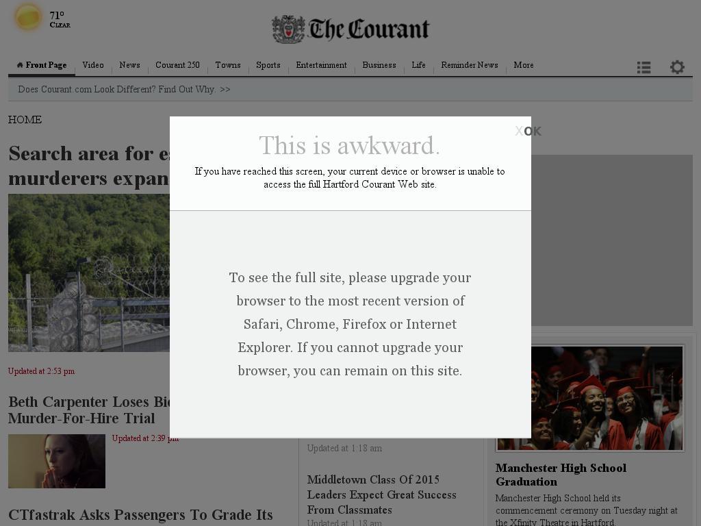 Hartford Courant at Wednesday June 17, 2015, 4:09 p.m. UTC