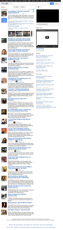 Google News: Entertainment at Sunday Nov. 25, 2012, 2:10 a.m. UTC