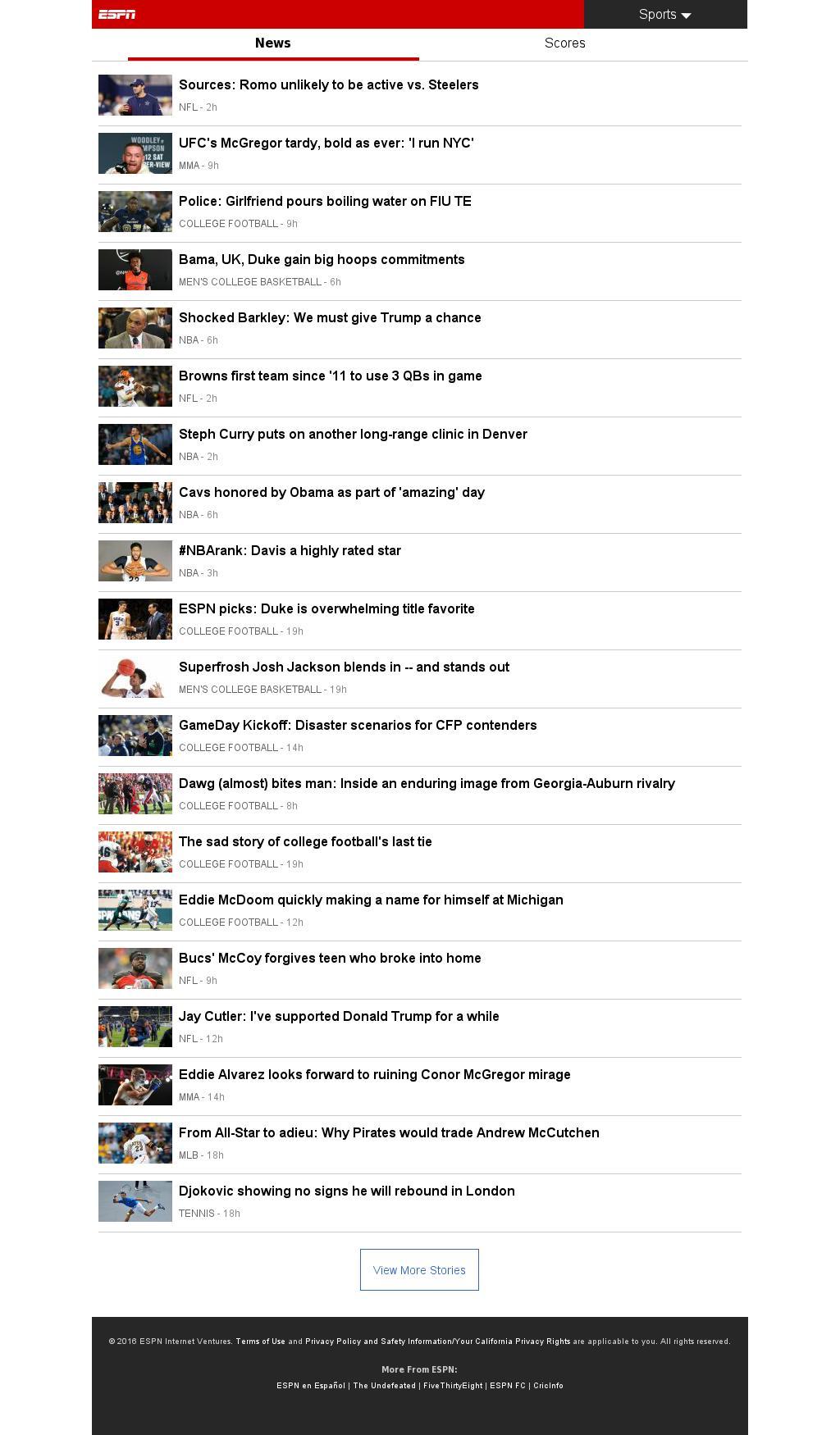 ESPN at Friday Nov. 11, 2016, 9:07 a.m. UTC