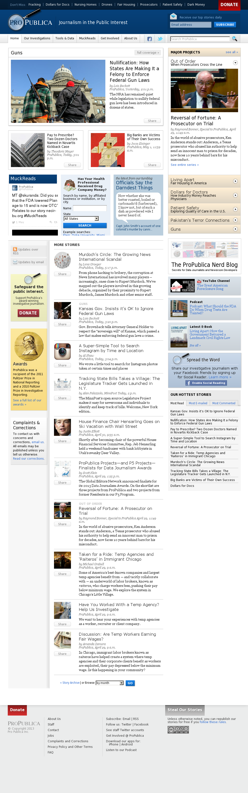 ProPublica at Saturday May 4, 2013, 1:23 a.m. UTC