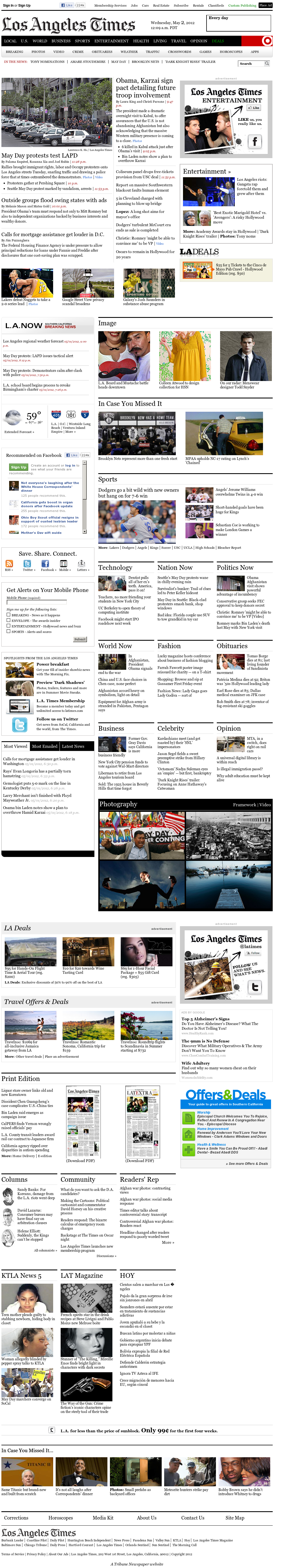 Los Angeles Times at Wednesday May 2, 2012, 7:09 a.m. UTC