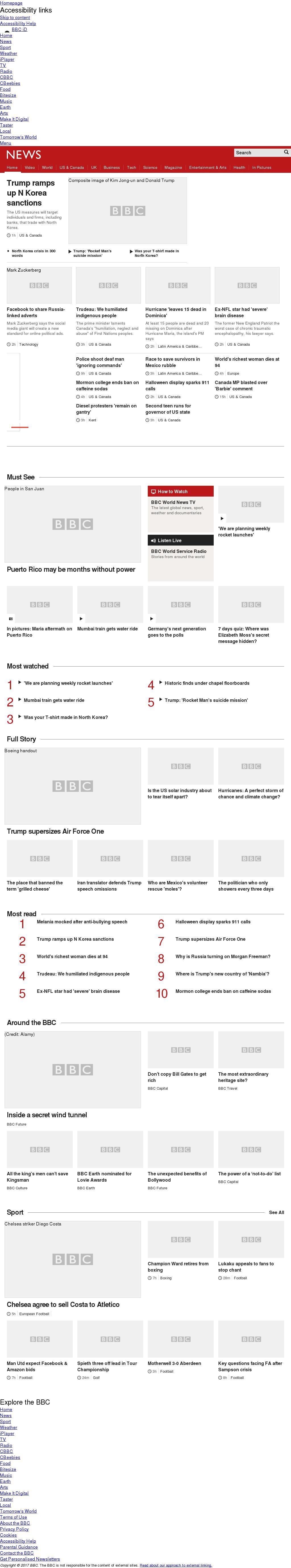 BBC at Friday Sept. 22, 2017, midnight UTC