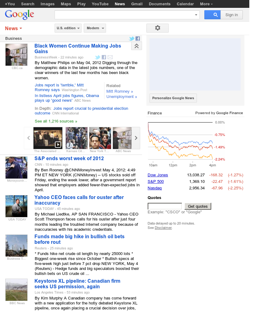 Google News: Business