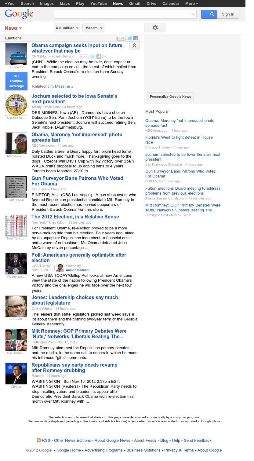 Google News: Elections at Monday Nov. 19, 2012, 5:12 p.m. UTC