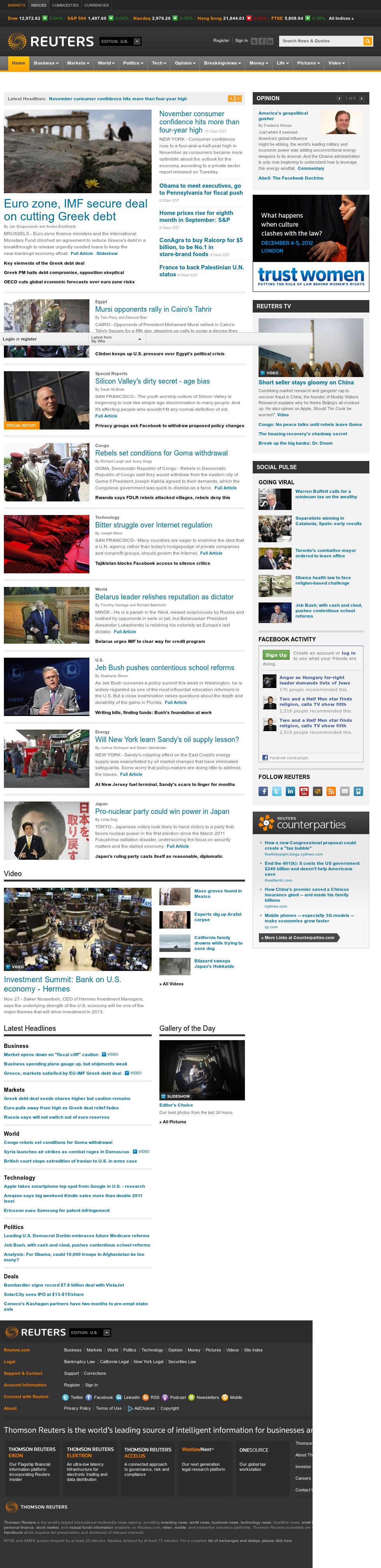 Reuters at Tuesday Nov. 27, 2012, 3:25 p.m. UTC