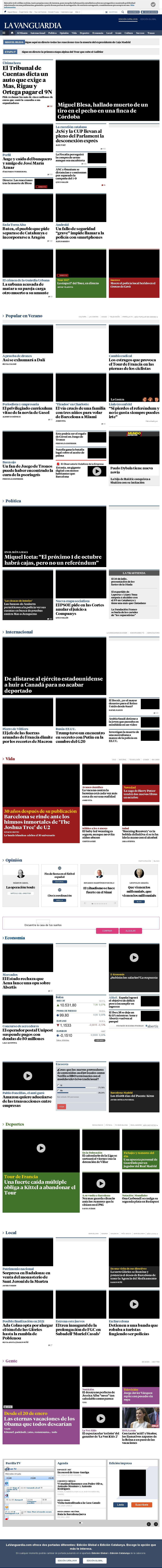 La Vanguardia at Wednesday July 19, 2017, 1:32 p.m. UTC