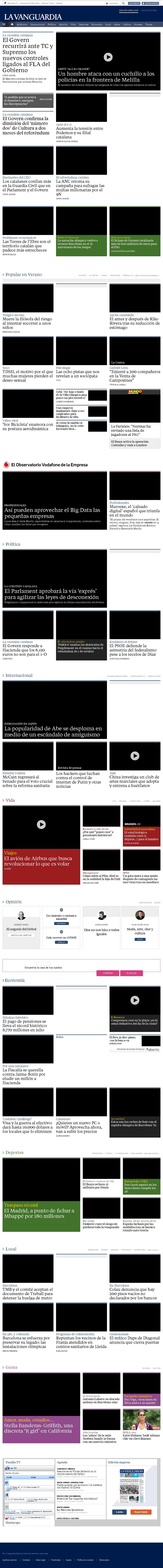 La Vanguardia at Tuesday July 25, 2017, 12:24 p.m. UTC