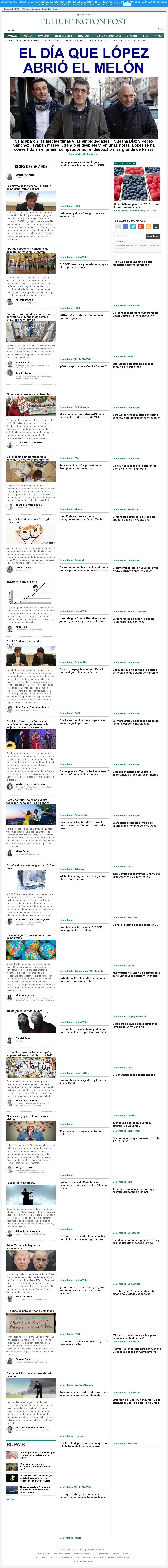 El Huffington Post (Spain) at Sunday Jan. 15, 2017, 7:05 a.m. UTC