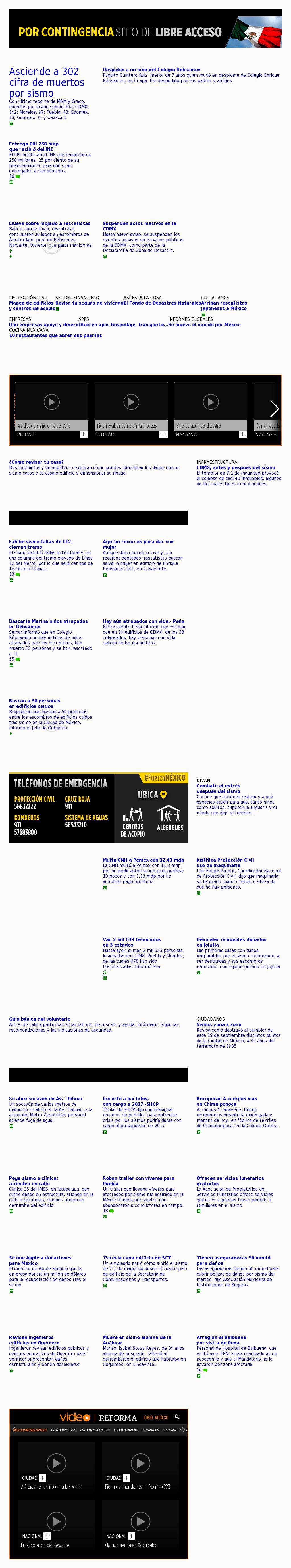 Reforma.com at Friday Sept. 22, 2017, 1:18 a.m. UTC