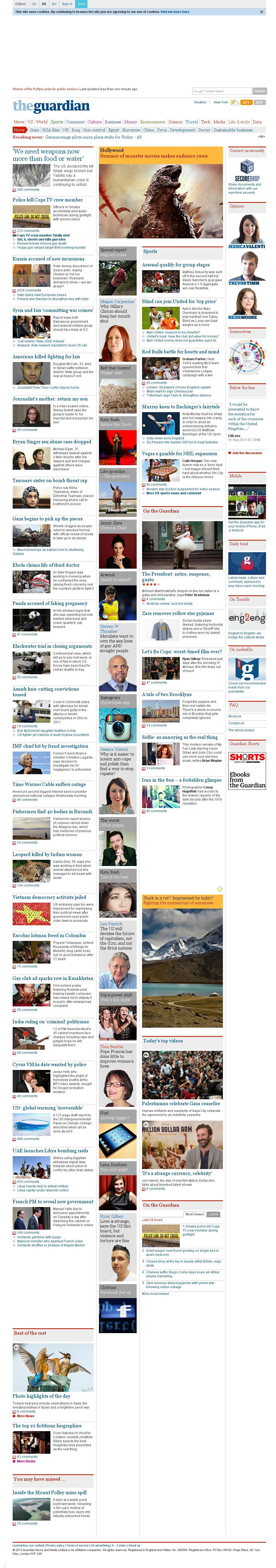 The Guardian at Thursday Aug. 28, 2014, 7:07 a.m. UTC