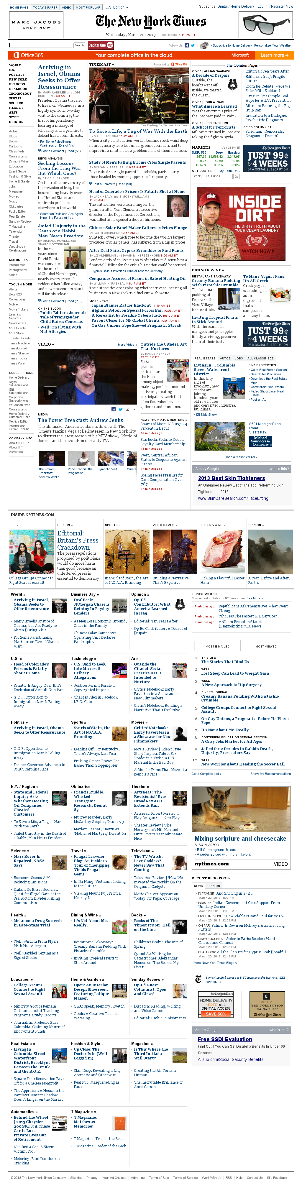 The New York Times at Wednesday March 20, 2013, 5:21 p.m. UTC