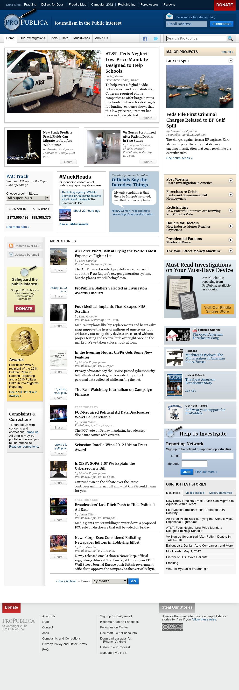 ProPublica at Wednesday May 2, 2012, 3:10 a.m. UTC