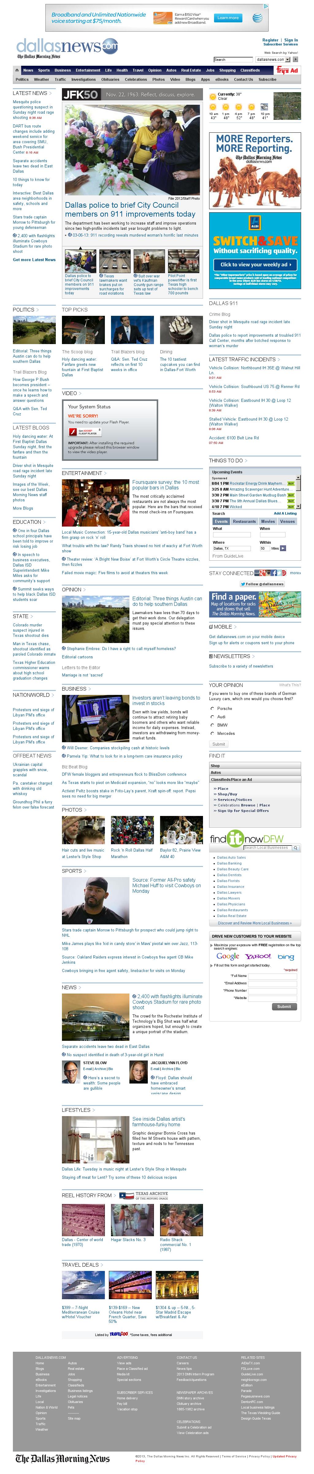 dallasnews.com at Monday March 25, 2013, 2:15 p.m. UTC
