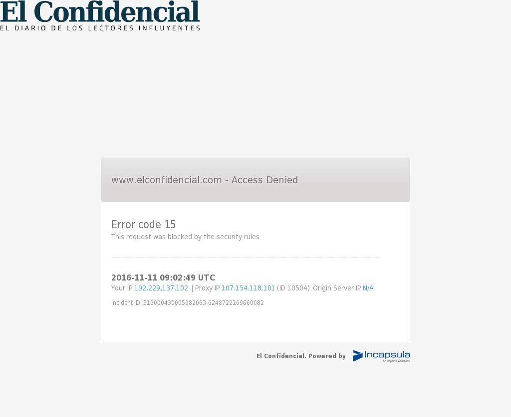 El Confidencial at Friday Nov. 11, 2016, 9:04 a.m. UTC
