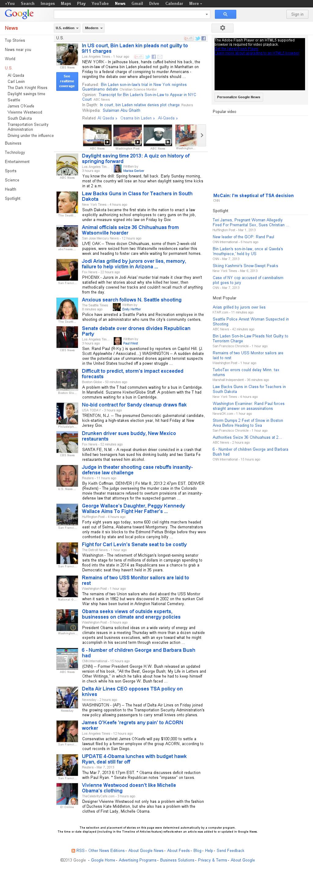 Google News: U.S. at Saturday March 9, 2013, 7:07 a.m. UTC
