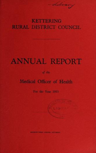 [Report 1953] by Kettering (England). Rural District Council