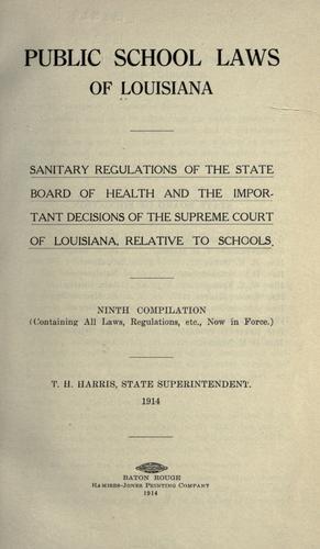 Public school laws of Louisiana.