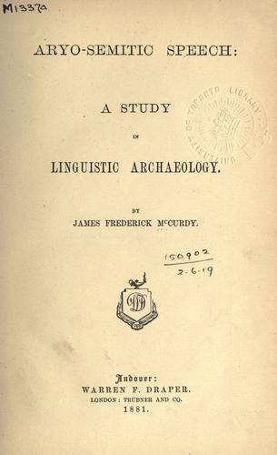 Aryo-semitic speech