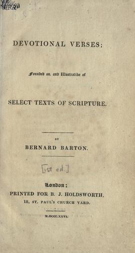Devotional verses by Bernard Barton