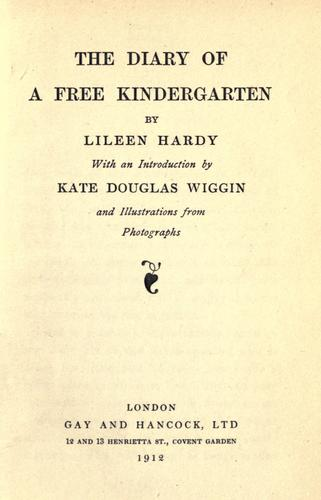 The diary of a free kindergarten
