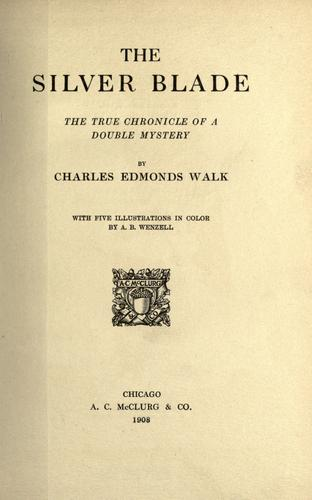 The silver blade by Charles Edmonds Walk