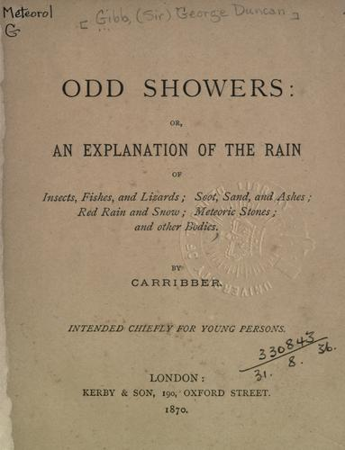 Odd showers by [Gibb Sir George Duncan