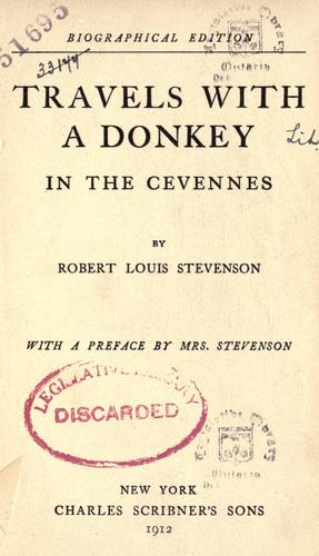 Travels with a donkey in the Cevennes by Robert Louis Stevenson