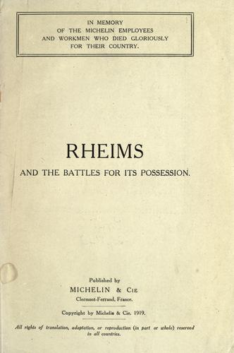 Rheims and the battles for its possession. by