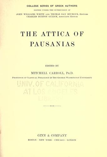 The Attica of Pausanias by Pausanias