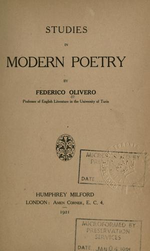 Studies in modern poetry