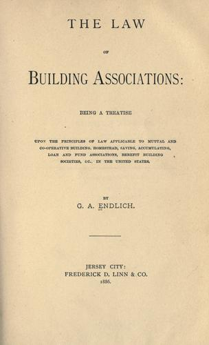 The law of building associations