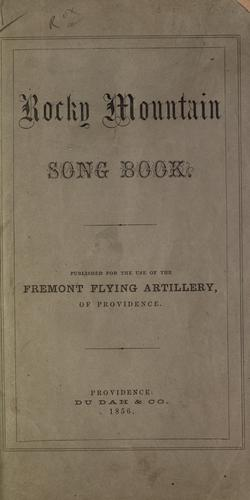 Rocky Mountain song book by